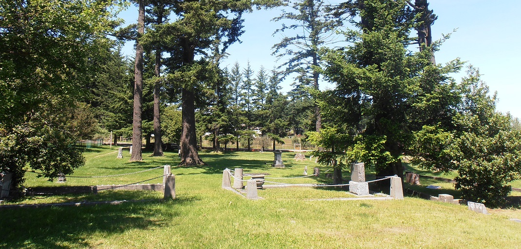 a view of Mt. Baker Cemetery